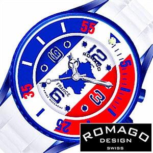 ロマゴデザイン 腕時計 [ ROMAGO DESIGN 時計 ] ロマゴ スーパーレジェーラ [ Super leggera ] メンズ レディース 男女兼用 フランス FRANCE ブルー レッド RM043-0412PL-FR [ 20代 30代 40代 50代 60代 ][ 父の日 ][ 誕生日 ][ ハイブリッドスタイルは各種プレゼント・ギフトに対応いたします! ]人気のあります