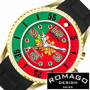 ロマゴ 時計 ROMAGO 時計 ロマゴ 腕時計 ROMAGO 腕時計 ロマゴデザイン ROMAGODESIGN ロマゴ デザイン ROMAGO DESIGN ポルトガル メンズ レディース グリーン レッド RM043-0412PL-PO サッカー クリスティアーノ ロナウド