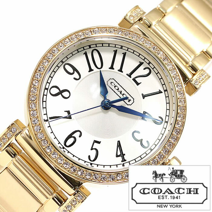 コーチ 腕時計 [ COACH 時計 ] マディソン [ MADISON ] レディース ホワイト シルバー CO-14501724 [ かわいい 人気 ゴールド パール クリスタル ホワイト ] [ 20代 30代 40代 50代 60代 ][ 父の日 ][ 誕生日 ][ ハイブリッドスタイルは各種プレゼント・ギフトに対応いたします! ]