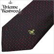 [あす楽対応][送料無料]ヴィヴィアンウエストウッド ネクタイ [ VivienneWestwood ]( Vivienne Westwood ネクタイ ヴィヴィアン ウエストウッド ) メンズネクタイ/FN36-4-9 [ブランドネクタイ/おしゃれ/冠婚葬祭/結婚式/ビジネス/プレゼント/オーブ/ブラック/レッド/ドット]