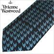 [あす楽対応][送料無料]ヴィヴィアンウエストウッド ネクタイ [ VivienneWestwood ]( Vivienne Westwood ネクタイ ヴィヴィアン ウエストウッド ) メンズネクタイ/FN41-3-9 [ブランドネクタイ/おしゃれ/冠婚葬祭/結婚式/ビジネス/プレゼント/オーブ/ライトブルー/千鳥格子]