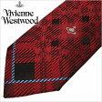 [あす楽対応][送料無料]ヴィヴィアンウエストウッド ネクタイ [ VivienneWestwood ]( Vivienne Westwood ネクタイ ヴィヴィアン ウエストウッド ) メンズネクタイ/FN52-1-9 [ブランドネクタイ/おしゃれ/冠婚葬祭/結婚式/ビジネス/プレゼント/オーブ/チェック]