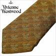 [あす楽対応][送料無料]ヴィヴィアンウエストウッド ネクタイ [ VivienneWestwood ]( Vivienne Westwood ネクタイ ヴィヴィアン ウエストウッド ) メンズネクタイ/FN55-1-9 [ブランドネクタイ/おしゃれ/冠婚葬祭/結婚式/ビジネス/プレゼント/オーブ/ゴールド]