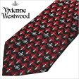 [あす楽対応][送料無料]ヴィヴィアンウエストウッド ネクタイ [ VivienneWestwood ]( Vivienne Westwood ネクタイ ヴィヴィアン ウエストウッド ) メンズネクタイ/FN72-3-9 [ブランドネクタイ/おしゃれ/冠婚葬祭/結婚式/ビジネス/プレゼント/オーブ/レッド/ネイビー]