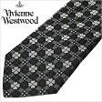 [あす楽対応][送料無料]ヴィヴィアンウエストウッド ネクタイ [VivienneWestwood]( Vivienne Westwood ネクタイ ヴィヴィアン ウエストウッド ) メンズネクタイ/FN74-6-9 [ブランドネクタイ/おしゃれ/冠婚葬祭/結婚式/ビジネス/プレゼント/オーブ/グレー/ブラック]
