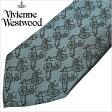 [あす楽対応][送料無料]ヴィヴィアンウエストウッド ネクタイ [ VivienneWestwood ]( Vivienne Westwood ネクタイ ヴィヴィアン ウエストウッド ) メンズネクタイ/FN79-3-9 [ブランドネクタイ/おしゃれ/冠婚葬祭/結婚式/ビジネス/プレゼント/オーブ/グリーン]