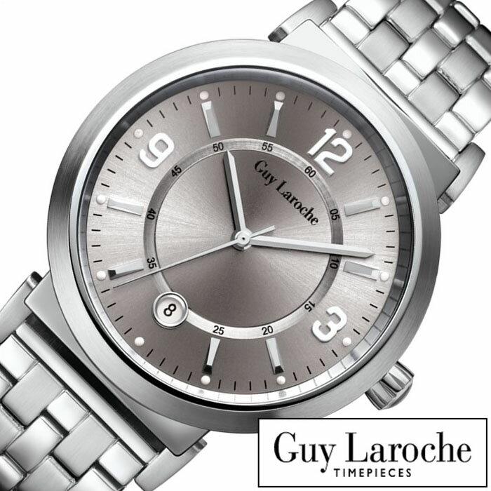 ギラロッシュ腕時計 Guy Laroche時計 Guy Laroche 腕時計 ギラロッシュ 時計 メンズ シルバー G2005-04 [ アナログ TIMEPIECES メンズウォッチ オールシルバー 銀 3針 プレゼント ギフト 祝い ] Guy Laroche時計 ギラロッシュ腕時計 Guy Laroche 腕時計 ギラロッシュ 時計