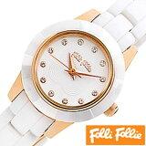 フォリフォリ 時計 レディース 女性 [ folli follie ] 腕時計 ミニセラミック MINI CERAMIC WATCH/ホワイト WF2R028BSS [ピンクゴールド/セラミック/アウトレット] [ クリスマス ]