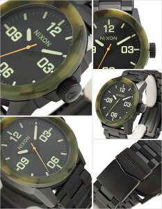ニクソン腕時計[NIXON時計](NIXON腕時計ニクソン時計)プライベート(PRIVATESS)メンズ腕時計/ブラック/A276-1428[送料無料アナログ/マットブラック/カモフラージュ/カーモ迷彩/黒3針]