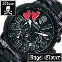 【5年延長保証】 エンジェルクローバー 時計 [ AngelClover 時計 ] エンジェル クローバー 腕時計 [ Angel Clover 腕時計 ] エンジェルクローバー時計 [ AngelClover時計 ] ロエン × エンジェルクローバー腕時計 ROEN コラボ メンズ ブラック ES43RONN [ オールブラック ]