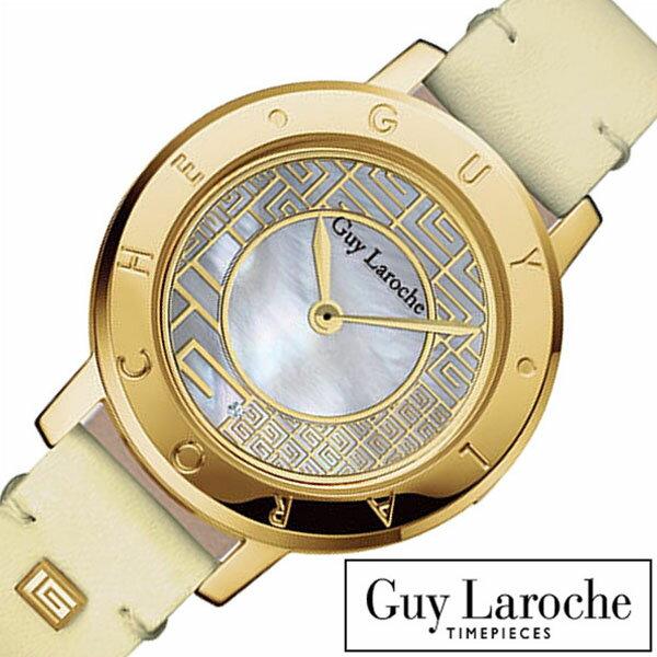 ギラロッシュ腕時計 Guy Laroche時計 Guy Laroche 腕時計 ギラロッシュ 時計 レディース マザーオブパール L1006-03 [ アナログ TIMEPIECES レディースウォッチ ベージュ ゴールド 金 白 2針 プレゼント ギフト 祝い ] [ 20代 30代 40代 50代 60代 ][ 父の日 ][ 誕生日 ][ ハイブリッドスタイルは各種プレゼント・ギフトに対応いたします! ]