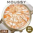 マウジー腕時計 MOUSSY時計 [ MOUSSY ] 腕時計 マウジー 時計 マウジー ビッグ ケース MOUSSY Big Case メンズ レディース /オレンジ ホワイト WM0061QC [革ベルト アメコミ シャンパン ゴールド 人気]