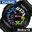 カシオ腕時計 CASIO時計 CASIO 腕時計 カシオ 時計 ベイビーG BABY-G レディース/ブラック BGA-131-1B2 [アナデジ/デジタル/液晶/防水/ホワイト/マルチ カラー/ネオン/シンプル/ベビーG][送料無料]