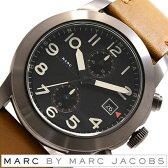 マークバイマークジェイコブス腕時計 MARCBYMARCJACOBS時計 MARC BY MARCJACOBS 腕時計 マーク バイ マークジェイコブス[マークバイマークジェイコブス] 時計 ラリー クロノグラフ Larry Chronograph メンズ/ブラック MBM5082 [革 ベルト/クロノ グラフ/防水][送料無料]
