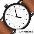 TID Watches 腕時計 [ ティッドウォッチズ ]ティッドウォッチ 腕時計[ TIDWatches 時計 ]ティッド ウォッチ 時計 TIDNo. 1 メンズ/レディース TID01-WH-T [ブランド/人気/革ベルト/おしゃれ/防水/北欧/アナログ/ブラウン/インスタ]
