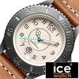 アイスウォッチ 時計[ ICEWATCH 腕時計 ]アイス ウォッチ[ ice watch 腕時計 ]アイス 腕時計 ヘリテイジ クリーム ビッグ Heritage Cream Big メンズ/ホワイト HELBNGMBL [革 ベルト/防水/ブラウン/グレー/ライト ブルー/ヘリテージ/ビック][送料無料][5年保証対象]