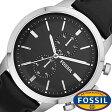 フォッシル腕時計 FOSSIL時計 FOSSIL 腕時計 フォッシル 時計 タウンズマン TOWNSMAN メンズ/ブラック FS4866 [革 ベルト/クロノ グラフ/オールブラック/シルバー/ファッション/人気/フォーマル][送料無料][新社会人]