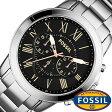 フォッシル腕時計 FOSSIL時計 FOSSIL 腕時計 フォッシル 時計 グラント GRANT メンズ/ブラック FS4994 [メタル ベルト/クロノ グラフ/シルバー/ファッション/人気/フォーマル][送料無料][新社会人]