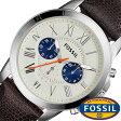 フォッシル 腕時計 メンズ 男性 [ FOSSIL ] フォッシル 時計 [ fossil 腕時計 メンズ ] グラント GRANT ホワイト FS5021 [革 ベルト/クロノ グラフ/ブラウン/シルバー/アイボリー/クリーム/ファッション/人気/ブルー] [ クリスマス ]