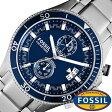 フォッシル腕時計 FOSSIL時計 FOSSIL 腕時計 フォッシル 時計 ウェイクフィールド WAKEFIELD メンズ/ブルー CH2937 [人気/新作/ブランド/防水/ステンレス ベルト/ブルー/シルバー][送料無料]