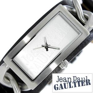 [送料無料]ジャンポールゴルチェ腕時計[JeanPaulGAULTIER時計](JeanPaulGAULTIER腕時計ジャンポールゴルチェ時計)メンズ/レディース/ユニセックス/男女兼用腕時計/シルバー/JPG-8502901[革ベルト/ブラック/ゴルチエ/ゴルティエ/ブレスウォッチ]