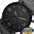 フォッシル 腕時計 メンズ 男性 [ FOSSIL ] フォッシル 時計 [ fossil 腕時計 メンズ ] ネイト NATE ブラック JR1401 [人気/ブランド/防水/革 ベルト/レザー/ブラック] [ クリスマス ]