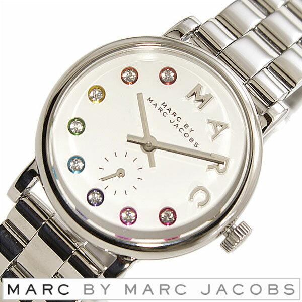 マークバイマークジェイコブス 時計 レディース 女性 [ MARC BY MARC JACOBS ] 腕時計 マークジェイコブス 時計 ベイカー Baker ホワイト MBM3423 [ メタル ベルト 人気 ブランド グリッツ シルバー マルチ カラー クリスタル ] マークバイマークジェイコブス 腕時計 ( MARCBYMARCJACOBS 時計 )マーク バイ マークジェイコブス 時計 マークジェイコブス腕時計 [ MARCJACOBS時計 ]