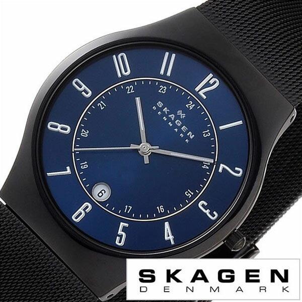 スカーゲン腕時計 SKAGEN時計 SKAGEN 腕時計 スカーゲン 時計 メンズ ブルー T233XLTMN [ 人気 ブランド 防水 ステンレス ベルト シルバー ブルー ブラック ] SKAGEN時計 スカーゲン腕時計 SKAGEN 腕時計 スカーゲン 時計