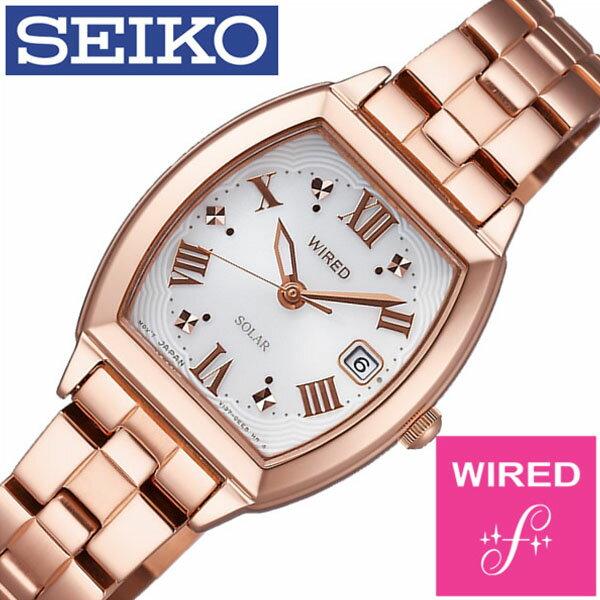 【正規品】【5年延長保証】 ワイアードエフ腕時計 WIREDf時計 WIRED f 腕時計 ワイアード エフ 時計 レディース ホワイト AGED077 [ メタル ベルト ソーラー ワイヤード SEIKO シルバー ローズ ゴールド ] [ 20代 30代 40代 50代 60代 ][ 父の日 ][ 誕生日 ][ ハイブリッドスタイルは各種プレゼント・ギフトに対応いたします! ]
