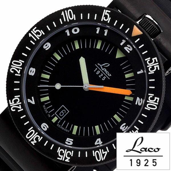 ラコ 腕時計 メンズ 男性 [ Laco ] 時計 アタカマ ズ ATACAMA ブラック LACO-861632 [ ラバー ベルト 機械式 メカニカル 自動巻 自動巻き 正規品 防水 オールブラック ダイバー ] [ 20代 30代 40代 50代 60代 ][ 父の日 ][ 誕生日 ][ ハイブリッドスタイルは各種プレゼント・ギフトに対応いたします! ]