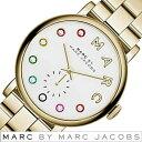 マークバイマークジェイコブス 時計 ベイカー BAKER MARCBYMARCJACOBS 腕時計 マークジェイコブス MARCJACOBS 腕時計 マークバイ レディース ホワイト MBM3440 クリスタル 人気 ブランド 防水 メタル ベルト ゴールド プレゼント ギフト 新生活