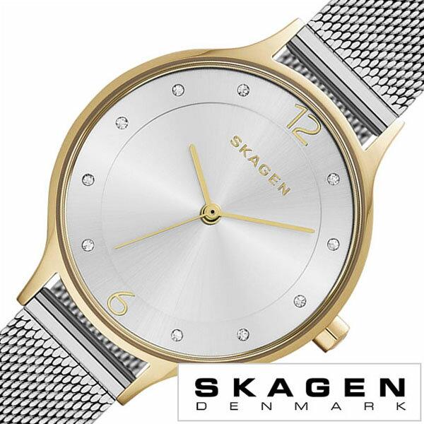 スカーゲン 腕時計 [ SKAGEN 時計 ] スカーゲン 時計 [ SKAGEN 腕時計 ] スカーゲン腕時計 [ SKAGEN時計 ] ア二タ Anita レディース シルバー SKW2340 [ 人気 流行 ブランド 防水 メタル ベルト シンプル クリスタル メッシュ ゴールド プレゼント ギフト ] スカーゲン 腕時計 ( SKAGEN 時計 )スカーゲン 時計 ( SKAGEN 腕時計 )スカーゲン腕時計 ( SKAGEN時計 )