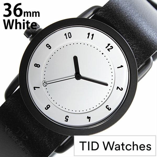 ティッドウォッチズ 腕時計 レディース 女性 [ TID watches ] ホワイト TID01-WH36-BK [ 革 ベルト おしゃれ インスタ モデル 北欧 ペア ブラック ] ティッドウォッチ 腕時計 ( TIDWatches 時計 )ティッド ウォッチ 時計 ( TID Watches 腕時計 ) TIDNo. 1 レディース メンズ