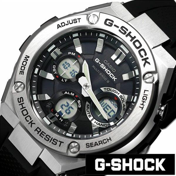 【正規品】【5年延長保証】 カシオ腕時計 CASIO時計 カシオ 時計 G ショック Gスチール G SHOCK G-STEEL メンズ ブラック GST-W110-1AJF [ 流行 ブランド 防水 樹脂 ジースチール シルバー ジーショック ] CASIO時計 カシオ腕時計 CASIO 腕時計 カシオ 時計 GショックGスチール GSHOCKG-STEEL