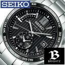 【正規品】【5年延長保証】 セイコー腕時計 SEIKO時計 SEIKO 腕時計 セイコー 時計 ブライツ BRIGHTZ メンズ ブラック SAGA145 [ メタル ベルト ソーラー 電波修正 防水 シルバー プレゼント ]