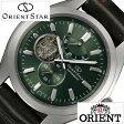 オリエント腕時計 [ ORIENT時計 ]( ORIENT 腕時計 オリエント 時計 ) オリエントスター ( ORIENTSTAR ) メンズ/腕時計/グリーン/WZ0121DK [革 ベルト/機械式/自動巻/メカニカル/正規品/ソメス サドル コラボ モデル/ブラウン/シルバー] [ クリスマス ]