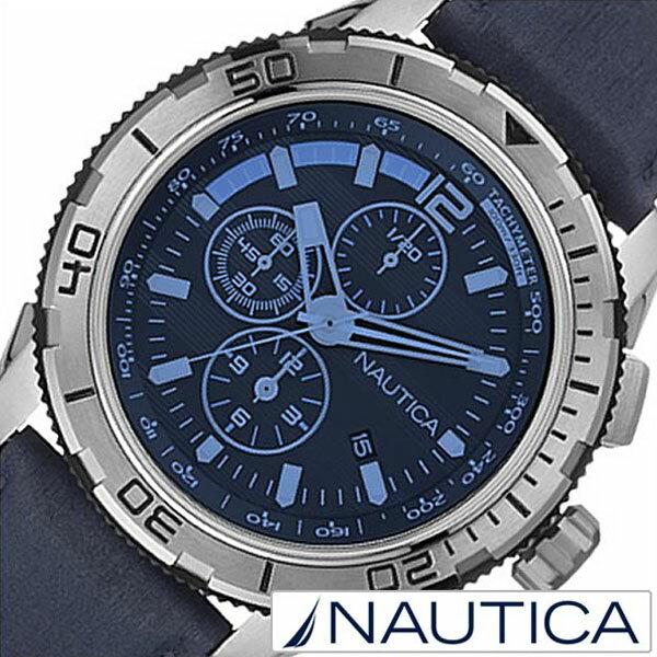【5年延長保証】 ノーティカ 腕時計 [ NAUTICA 時計 ] メンズ ブラック NAI19518G [ 正規品 人気 ブランド トレンド 革 レザー ベルト ブルー ] [ 20代 30代 40代 50代 60代 ][ 父の日 ][ 誕生日 ][ ハイブリッドスタイルは各種プレゼント・ギフトに対応いたします! ]
