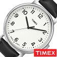 [送料無料]タイメックス腕時計 [ TIMEX時計 ]( TIMEX 腕時計 タイメックス 時計 ) イージー リーダー モダン ( Easy Reader MODERN ) メンズ/腕時計/ホワイト/S-T2N338 [正規品/革 ベルト/新品/ファッションウォッチ/ホワイト/シンプルウォッチ/シルバー/ブラック]