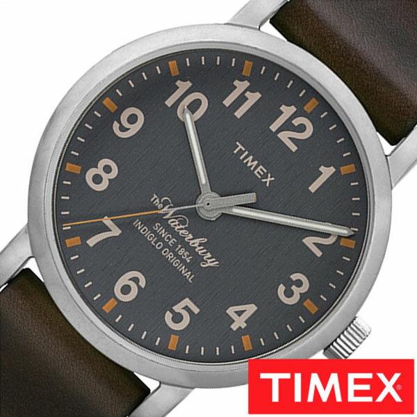 【正規品】【5年延長保証】 タイメックス腕時計 [ TIMEX時計 ]( TIMEX 腕時計 タイメックス 時計 ) ウォーターベリー コレクション ( The Waterbury Collection ) メンズ 腕時計 グレー S-TW2P58700 [ 革 ベルト ブラウン シルバー ] TIMEX腕時計 [ タイメックス時計 ] TIMEX 腕時計 タイメックス 時計 ウォーターベリーコレクション ( The WaterburyCollection )