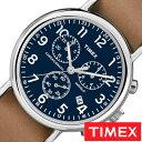 【5年延長保証】タイメックス腕時計 [ TIMEX時計 ]( TIMEX 腕時計 タイメックス 時計 ) ウィークエンダー クロノ ( Weekender Chrono 40mm ) メンズ/腕時計/ブルー/S-TW2P62300 [正規品/革 ベルト/新品/ファッションウォッチ/ブラウン/ネイビー/シルバー]