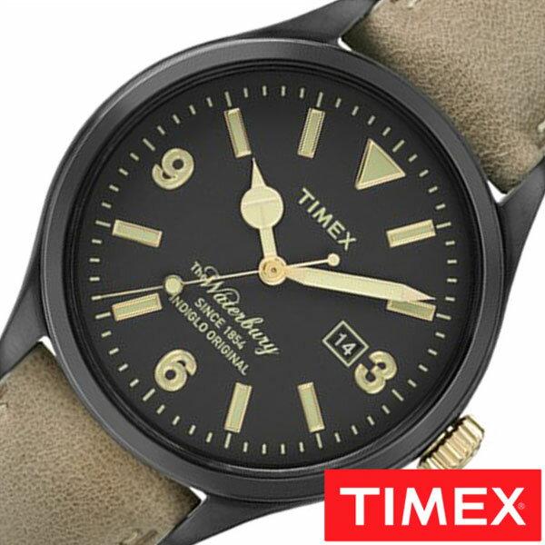 【正規品】【5年延長保証】 タイメックス腕時計 [ TIMEX時計 ]( TIMEX 腕時計 タイメックス 時計 ) ウォ-ターベリー デイト ( The Waterbury Date ) メンズ 腕時計 ブラック S-TW2P74900 [ 革 ベルト ブラウン ゴールド ] TIMEX腕時計 [ タイメックス時計 ] TIMEX 腕時計 タイメックス 時計 ウォ-ターベリーデイト ( The WaterburyDate )