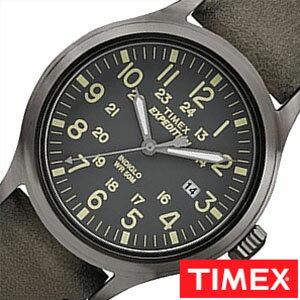 【正規品】【5年延長保証】 タイメックス腕時計 [ TIMEX時計 ]( TIMEX 腕時計 タイメックス 時計 ) エクスペディション スカウト ( Expedition Scout ) メンズ 腕時計 グレー TW4B01700 [ 革 ベルト ブラウン ] [ 20代 30代 40代 50代 60代 ][ 父の日 ][ 誕生日 ][ ハイブリッドスタイルは各種プレゼント・ギフトに対応いたします! ]
