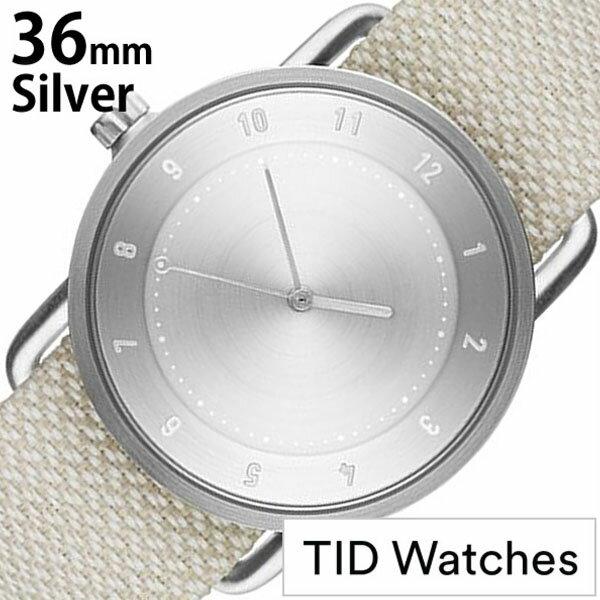 ティッドウォッチズ 腕時計 メンズ レディース 男女兼用 [ TID watches ] シルバー TID02-SV36-SAND [ No.2 正規品 おしゃれ 北欧 シンプル 革 レザー バンド シルバー ] TIDWatches腕時計 [ ティッドウォッチズ時計 ] TID Watches 腕時計 ティッド ウォッチズ 時計 クヴァドラ ( Kvadrat )