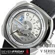 セブンフライデー 時計[ SEVENFRIDAY時計 ]( SEVENFRIDAY 腕時計 セブンフライデー 時計 ) ブイ シリーズ /メンズ/腕時計/シルバー/V1-01 [革 ベルト/機械式/自動巻/メカニカル/スイス/ブラック/ホワイト/V1/01][送料無料][プレゼント/ギフト]