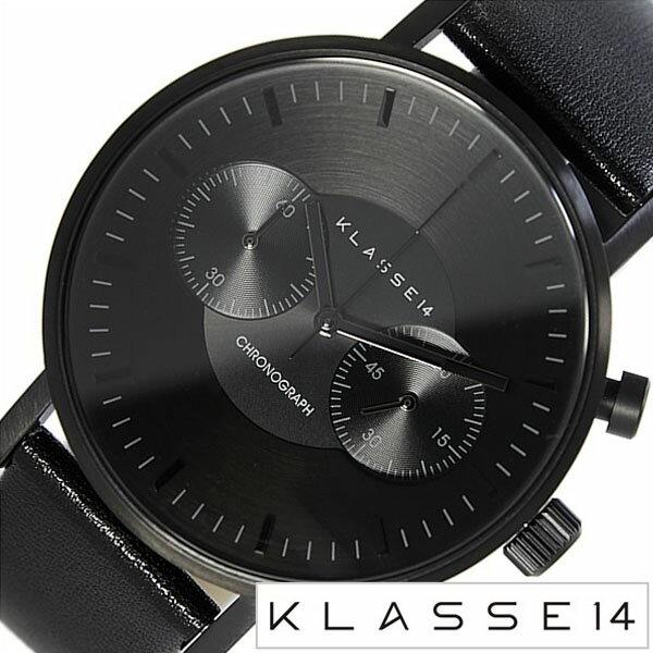 クラス14 腕時計 [ KLASSE14 時計 ] クラスフォーティーン ヴォラーレ [ VOLARE MARIO NOBILE ] メンズ ブラック VO15CH004M [ 革 ベルト 防水 マリオ クロノグラフ ] [ 20代 30代 40代 50代 60代 ][ 父の日 ][ 誕生日 ][ ハイブリッドスタイルは各種プレゼント・ギフトに対応いたします! ]【おかやま】