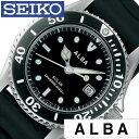 【正規品】【5年延長保証】 セイコー アルバ 腕時計 ( SEIKO ALBA 腕時計 セイコー アルバ 時計 ) メンズ 腕時計 ブラック AEFD530 [ ラバー ベルト 防水 ソーラー ダイバー ウォッチ シルバー シンプル プレゼント ]