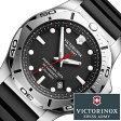 ビクトリノック ススイスアーミー 腕時計 ( VICTORINOX SWISS ARMY 腕時計 ビクトリノックス スイスアーミー 時計 ) イノックス プロフェッショナルダイバー /腕時計/ブラック/VIC-241733 [正規品/ブランド/ラバー/ミリタリー/防水/ダイビング/INOX/シルバー] [ クリスマス ]