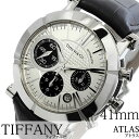 ティファニー 腕時計 [ Tiffany & Co.時計 ]( Tiffany & Co. 腕時計 ティファニー 時計 ) アトラス ( Atlas ) メンズ腕時計/シルバー/Z1000-82-12A21A71A [機械式/メカニカル/自動巻/革 ベルト/クロノグラフ/スイス/防水/オートマチック]