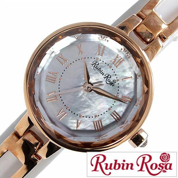 【5年延長保証】 ルビンローザ 時計 レディース 女性 [ Rubin Rosa ] 腕時計 ホワイト R015SOLPWH [ 人気 流行 ブランド 防水 かわいい メタル ベルト ソーラー ピンクゴールド ] [ 20代 30代 40代 50代 60代 ][ 父の日 ][ 誕生日 ][ ハイブリッドスタイルは各種プレゼント・ギフトに対応いたします! ]