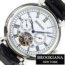 ブルッキアーナ 腕時計 [ BROOKIANA時計 ]( BROOKIANA 腕時計 ブルッキアーナ 時計 ) オリジン ( ORIGIN ) メンズ/腕時計/ホワイト/BA2603-WHBK [革 ベルト/機械式/自動巻/メカニカル/正規品/ブルッキーアーナ/ブランド/ブラック/シルバー]